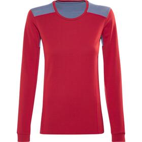 Norrøna Falketind Super Wool Naiset Pitkähihainen paita , punainen